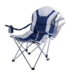 Picnic Time Sports Chair Resin Stacking Chairs Reclining Camp With Carrying Case Navy Silver Gray 12 5 Lb Target