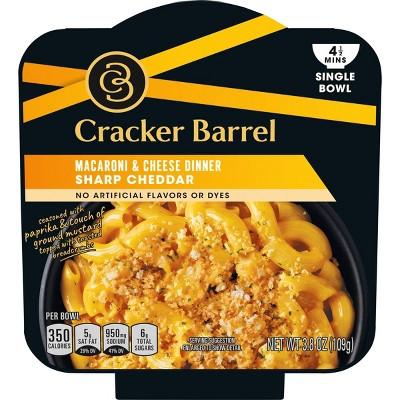 cracker barrel single bowl mac cheese sharp cheddar 3 8oz