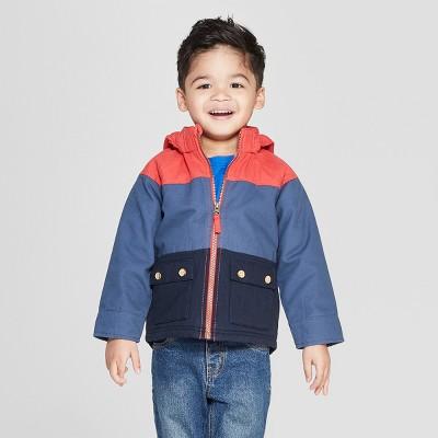 Genuine Kids® from OshKosh Toddler Boys' Canvas Colorblock Jacket - Red/Blue
