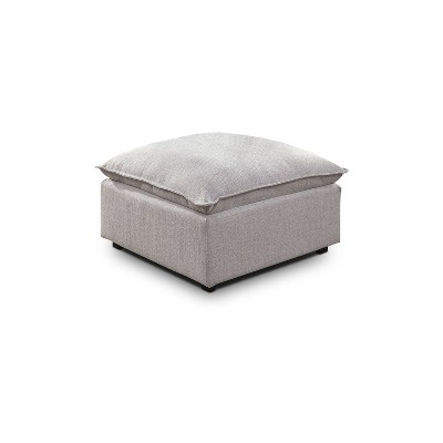 sawmill pillow top seating ottoman light gray mibasics