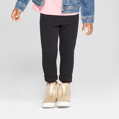 Toddler Girls' Cozy Leggings - Cat & Jack™ Black