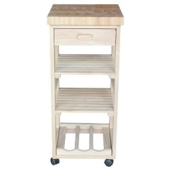 Unfinished Kitchen Cart Used Sinks For Sale Ashley Trolley International Concepts Target