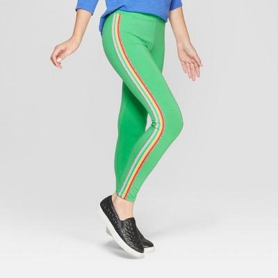Girls' Rainbow Side Stripe Leggings - Cat & Jack™ Green