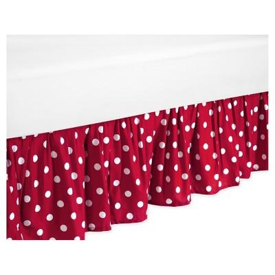 Red & White Polka Dot Bed Skirt - Sweet Jojo Designs®