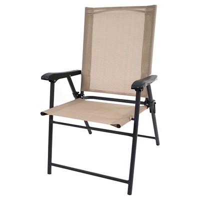 target sling chair tan wheelchair jump woodward folding patio threshold