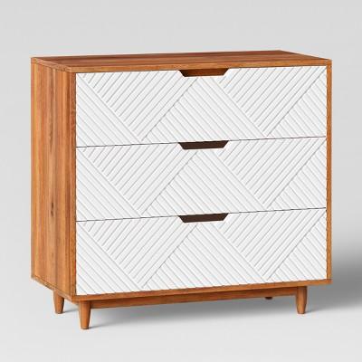 touraco dresser white brown