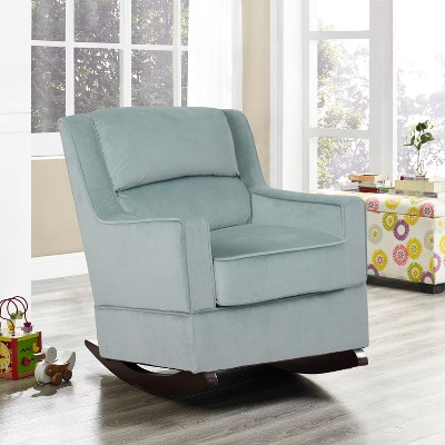 blue nursery chair with ottoman cheap riley rocking light relax a lounger target