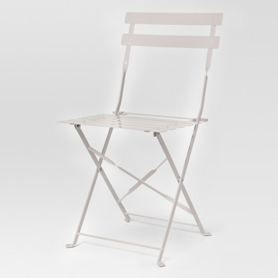 folding yard chair heavy duty barber chairs 3pc metal half round outdoor patio balcony bistro set white threshold target