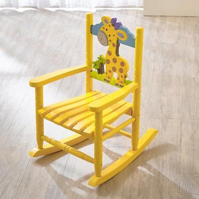 rocking chair kids office ideas safari giraffe teamson target