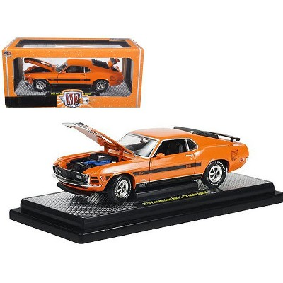 """1970 Ford Mustang Mach 1 428 """"Twister Special"""" Grabber Orange 1/24 Diecast Model Car by M2 Machines"""
