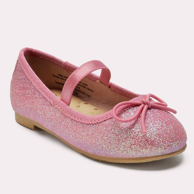 Toddler Girls' Lily Glitter Ballet Flats - Cat & Jack™ Pink