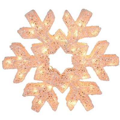 "Northlight 24"" LED Lighted Snowflake Christmas Decoration"