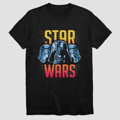 Boys' Star Wars Darth Vader Polygon Short Sleeve T-Shirt - Black