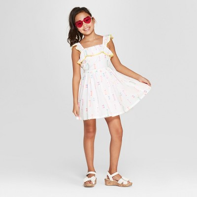 Girls' Dressy Dress - Cat & Jack™ White