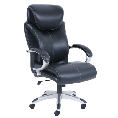 serta bonded leather executive chair with arms big tall office air technology