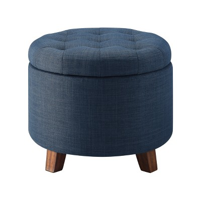 tufted round storage ottoman threshold