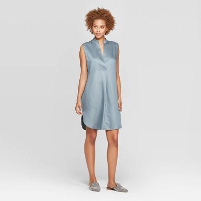 Women's Strapless Deep V-Neck Tunic Dress - Prologue™