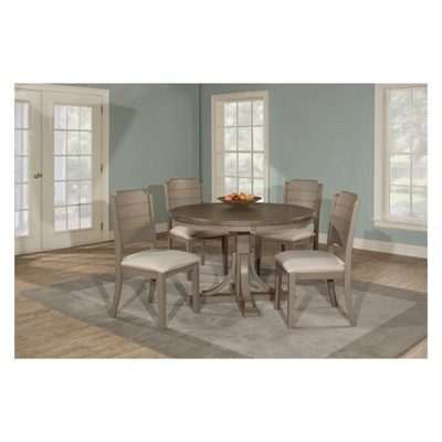 distressed dining chairs furry bean bag canada clarion five 5 piece round set with side about this item
