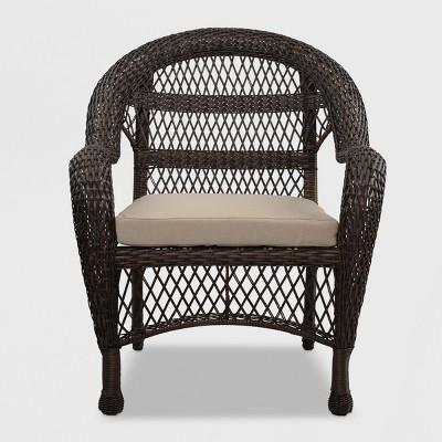 patio club chair guitar stool sheridan wicker brown threshold target