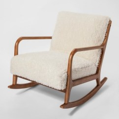 Target White Rocking Chair Plastic Molded Chairs Esters Wood Arm Sherpa Project 62