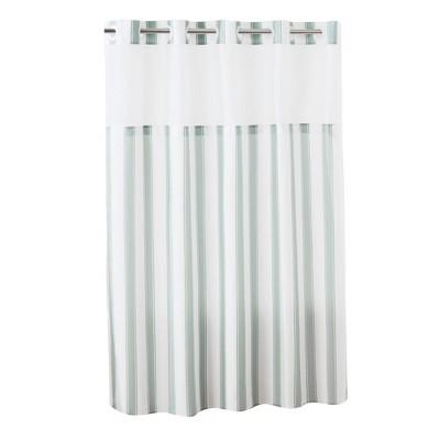 striped shower curtain with liner gray hookless