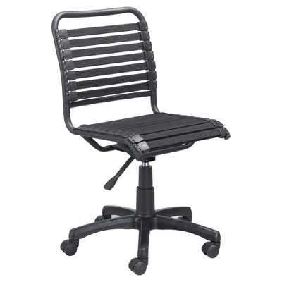 modern bungee style adjustable office chair black zm home