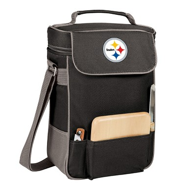 Pittsburgh Steelers - Duet Wine and Cheese Tote by Picnic Time (Black)