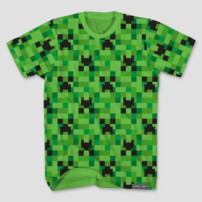 Boys Minecraft Short Sleeve T Shirt Green Target
