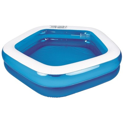 """Pool Central 79"""" Pentagon Inspired Inflatable Swimming Pool - Blue/White"""