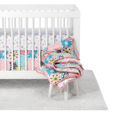 Trend Lab Waverly Baby 5pc Crib Bedding Set Blooms - Pink