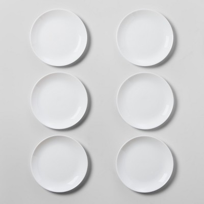 """Glass Salad Plate 7.4"""" White - Made By Design™"""