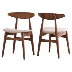 Danish Modern Dining Chair Lift Recliner Covers Cortland Walnut Set Of 2 Inspire Q