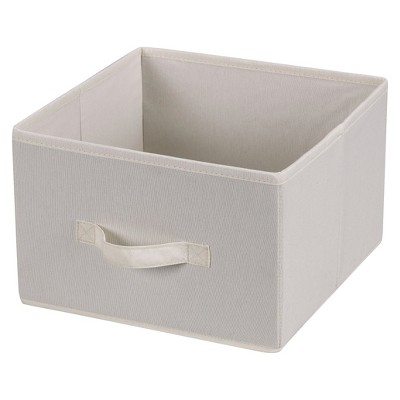 Household Essentials Fabric Cube - Natural Canvas