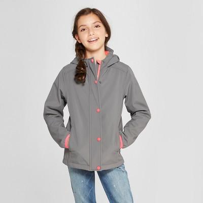 Girls' All Softshell Jacket - Cat & Jack™ Grey