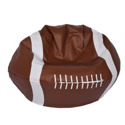football bean bag chair swivel diagram matte brown ace bayou target