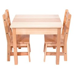 Solid Wood Chairs Chair Rental Indianapolis Melissa Doug Table And 2 Set Light Finish Furniture For Playroom Target
