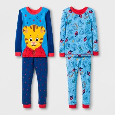Baby Boys' Daniel Tiger 4pc Pajama Set - Blue