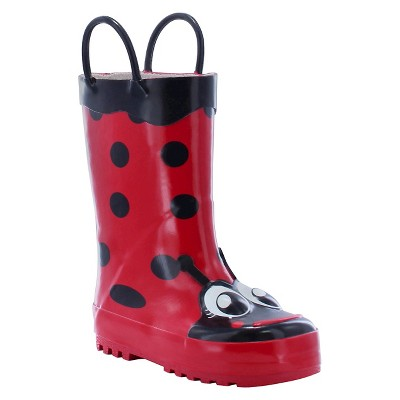 Toddler Girl Ladybug Rain Boot Red - Western Chief
