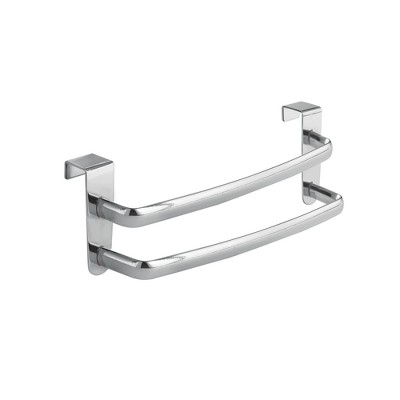 "InterDesign Axis Over-the-Cabinet Double Towel Bar 9"" Chrome"