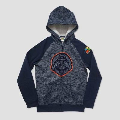 Boys' Super Mario Hooded Fleece Jacket - Navy