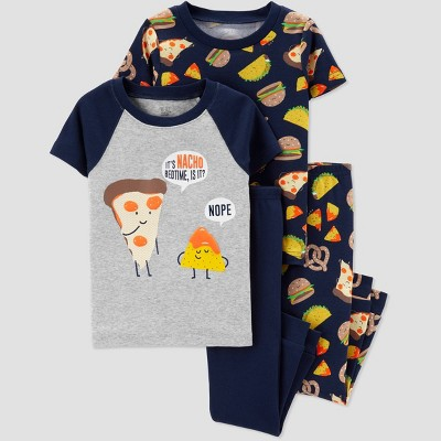 Baby Boys' 4pc Pizza Pajama Set - Just One You® made by carter's Blue/Gray