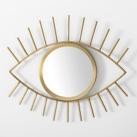 Eye Decorative Mirror Wall Sculpture Gold - Room ...