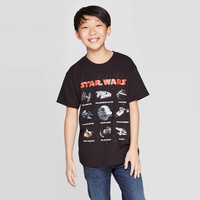 Boys' Star Wars Star Wars Ships Short Sleeve T-Shirt - Black