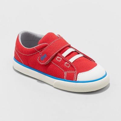 Toddler Boys' See Kai Run Basics Monterey Canvas Sneakers - Red