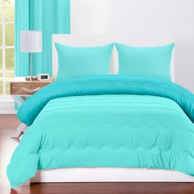 Robbin's Egg Reversible Comforter With Sham Blue/Turquoise - Crayola