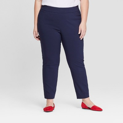 Women's Plus Size Pull-On Skinny Ankle Pants - Ava & Viv™
