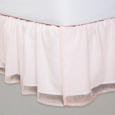 Glitter Dot Tulle Bedskirt - Pillowfort™