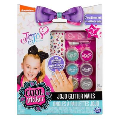 JoJo Siwa Glitter Nails - Glitter Manicure Kit with Custom Decals