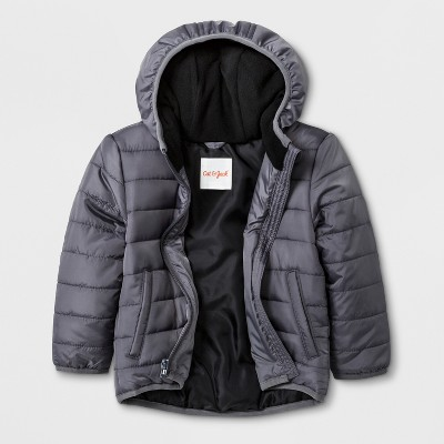 Toddler Boys' Hooded Fashion Jacket - Cat & Jack™ Gray