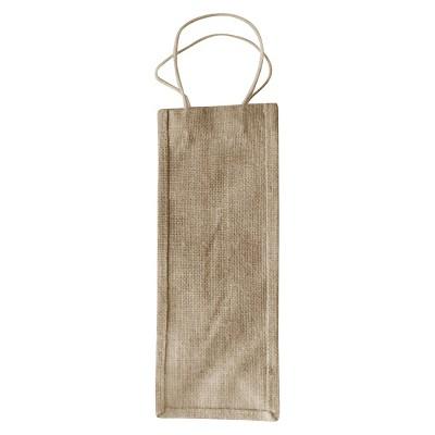 """Burlap Wine Bags, Natural, 5""""x13"""" , Pack of 2"""